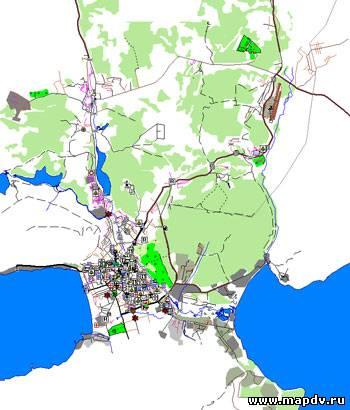 детальной схемы Магаданской области. форуме MapDV.  Схема городского округа с автоматическим ведением по маршруту...